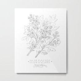 Missouri Sketch Metal Print
