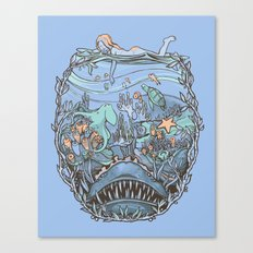 What Lurks Beneath Canvas Print