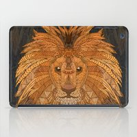 the lion king iPad Cases featuring King Lion by ArtLovePassion