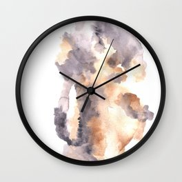 Soft Texture Watercolor | [Grief] Latched Wall Clock