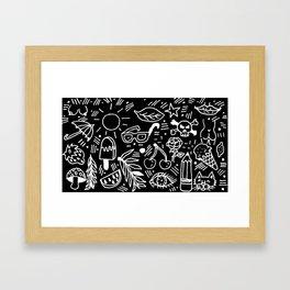 Black & White Minimal Pattern Framed Art Print