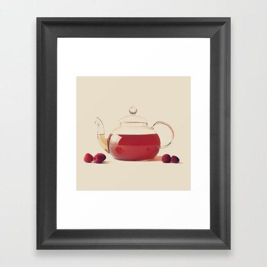 Raspberry Tea (Retro and Vintage Still Life Photography) Framed Art Print
