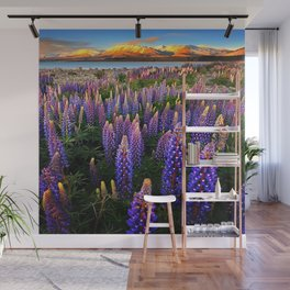 LUPINES FIELD Wall Mural