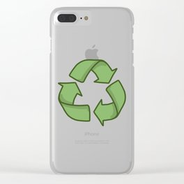 Recycle Symbol Clear iPhone Case