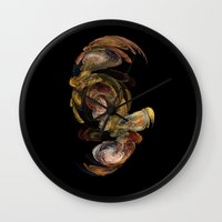 baroque Wall Clocks featuring Baroque by Tobias Bowman