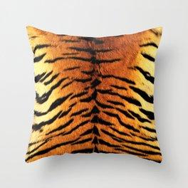Tiger Skin Print Throw Pillow