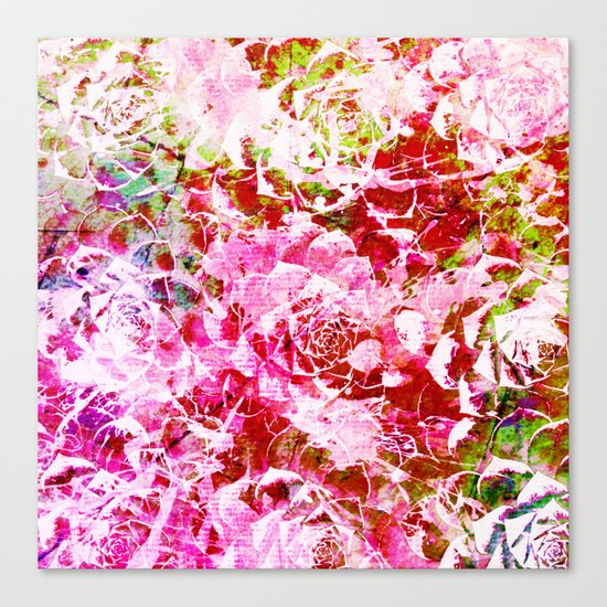 abstract succulent in pink Canvas Print