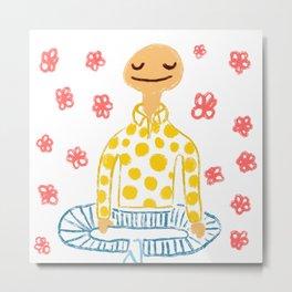 Bald Meditation Metal Print