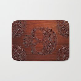 Wood Carved Sugar Skull flower pattern iPhone 4 4s 5 5s 5c, ipod, ipad, pillow case and tshirt Bath Mat