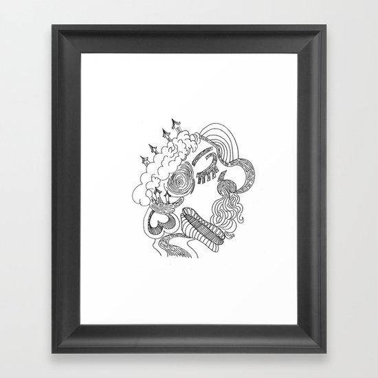 dreams in line Framed Art Print