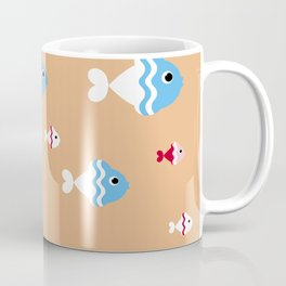 pattern background with colorful fish Coffee Mug