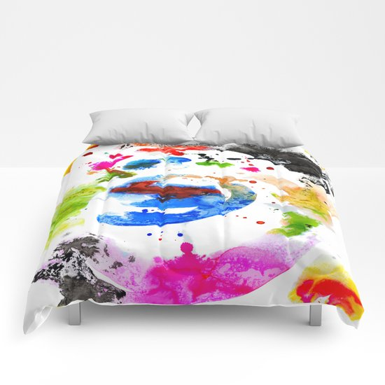 Abstract Ink Comforters