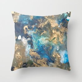 Color Commentary #10: Teal & Gold [Kat Meredith] Throw Pillow