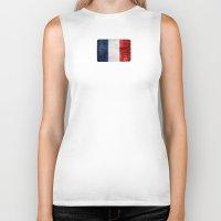 france Biker Tanks featuring France by Arken25