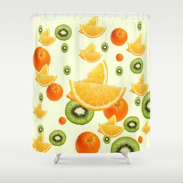TROPICAL KIWI-ORANGES KITCHEN ART Shower Curtain