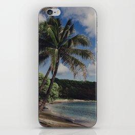 Hawaii Haze - Tropical Beach with Palm Trees iPhone Skin