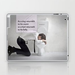 Proverbs 26:11 Laptop & iPad Skin