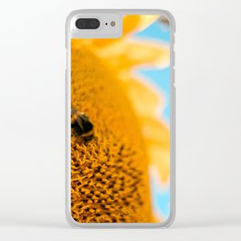 sunflower bee Clear iPhone Case