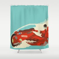akira Shower Curtains featuring Akira by Danny Haas