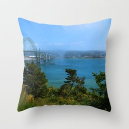 Bridge Over Calm Waters Throw Pillow