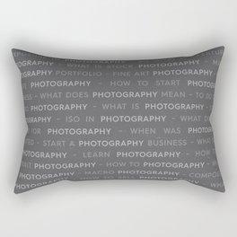 Gray Photography Keywords Rectangular Pillow