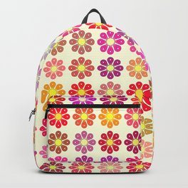 Multicolored floral pattern Backpack