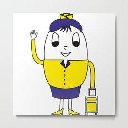 Egg Stewardess Metal Print