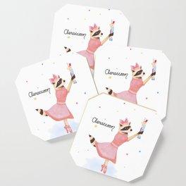 Claraccoon Coaster
