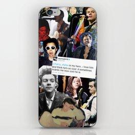 harry styles is my hero... iPhone Skin