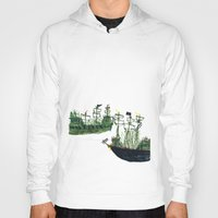 ships Hoodies featuring Ships by kiwiroom