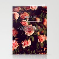 lyrics Stationery Cards featuring Amnesia Lyrics by WanderlustHipster