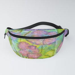 Spring Fantasy, Abstract Flowers Art Fanny Pack