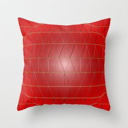 Triangular Sphere in Red Throw Pillow