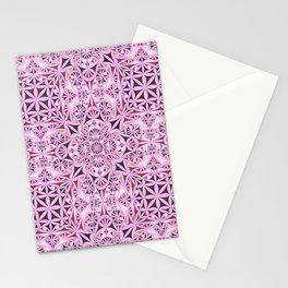 Pink kaleidoscope wallpaper Stationery Cards