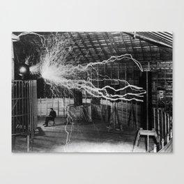 Nikola Tesla - Bolts Of Electricity Canvas Print