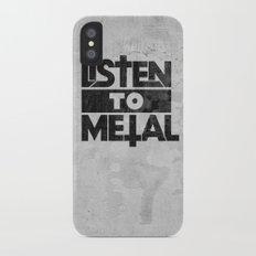 Listen to Metal Slim Case iPhone X