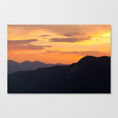 Mountain Sunset III (Big Bear Lake, California) Canvas Print