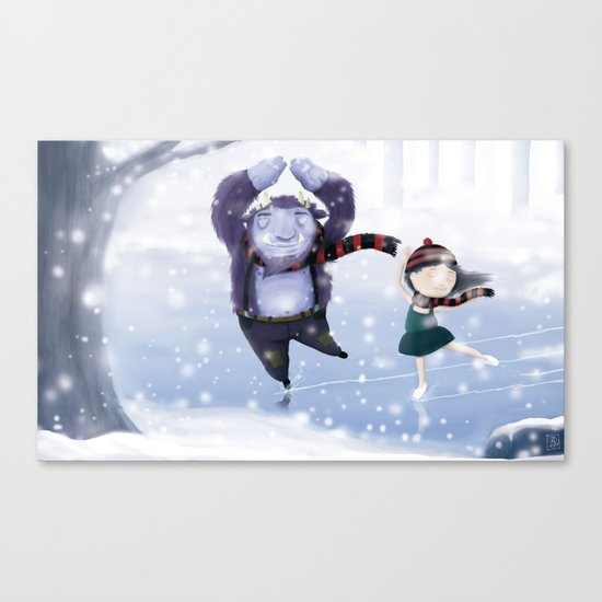 Dancing for the summer Canvas Print
