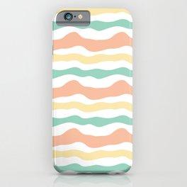 Modern wavy stripes pattern iPhone Case