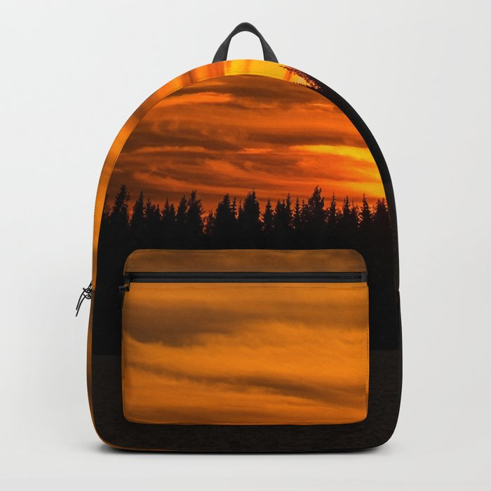 Cloudy Sunset With Forest Line - Scenic Landscape - #society6 #decor #buyart Backpack