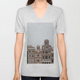 Amsterdam Charming Houses Unisex V-Neck