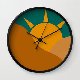 Golden Dawn Sun Wall Clock