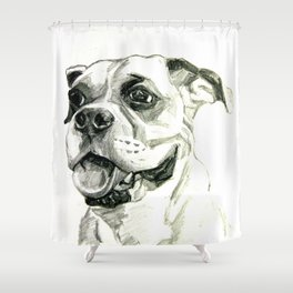 Smiling Boxer Boy Oscar Shower Curtain