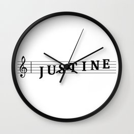 Name Justine Wall Clock