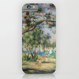 Renoir Neck Gaiter Bois De La Chaise Renoir Painting Neck Gator iPhone Case
