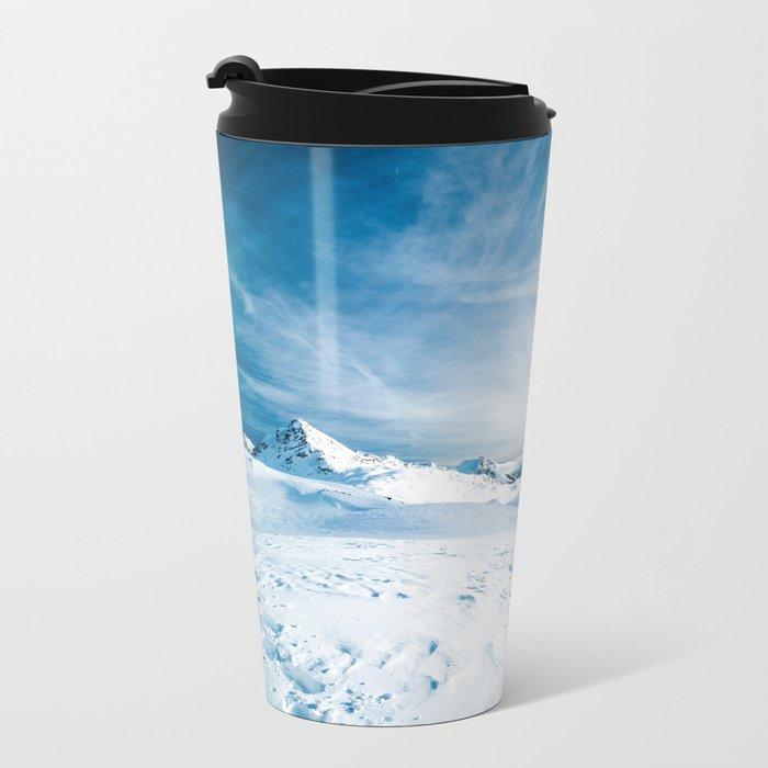 Mountain ice 2 Metal Travel Mug