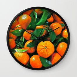 oranges from the grocery store Wall Clock