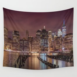 NEW YORK CITY Nightly Impressions | Panoramic Wall Tapestry