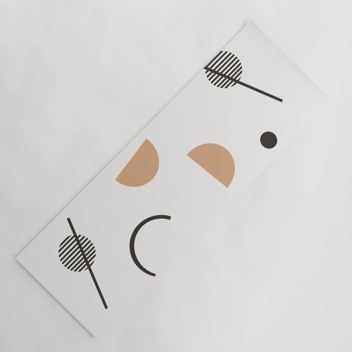 Chara - minimalist art print, abstract art, earth tones, neutral art print, geometric art print, Yoga Mat