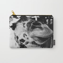 Black And White Giraffe Nose Carry-All Pouch